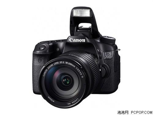 佳能EOS 70D 单反机身(中初级单反 2020万像素 3英寸翻转接触屏 连拍7张/秒)数码相机