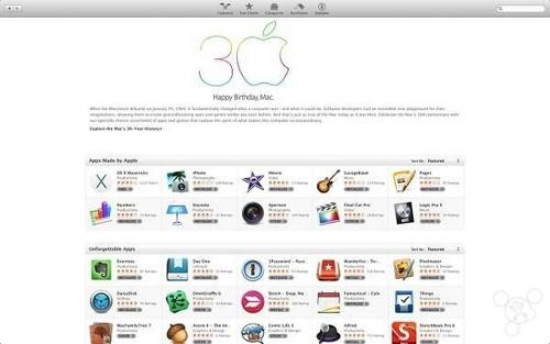 庆贺Mac三十周年 苹果App Store大转变