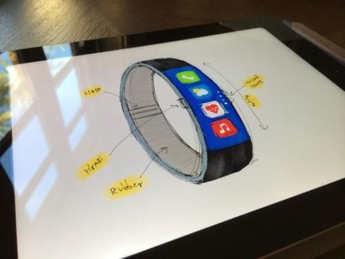 据悉这位设计师想打造的,是一款纯铝环带和铝扣的智能手表,不过遗憾的