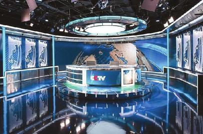 外媒:《新闻联播》新演播室赶超美国水准(图)图片