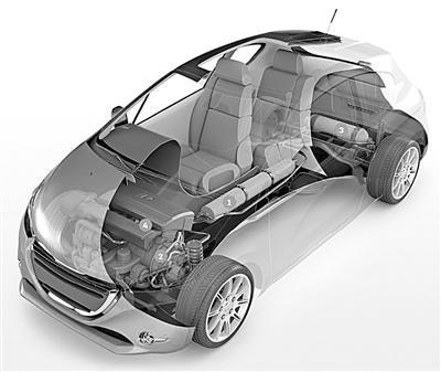 法国研制出空气混合动力汽车 2016年将量产高清图片