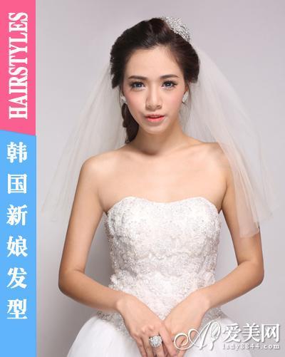 闪耀皇冠发饰 成就完美韩国新娘发型(组图)(10)