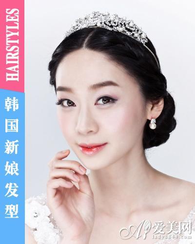 闪耀皇冠发饰 成就完美韩国新娘发型(组图)(4)图片