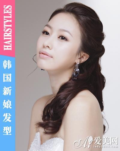 闪耀皇冠发饰 成就完美韩国新娘发型(组图)(12)图片