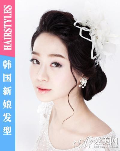 闪耀皇冠发饰 成就完美韩国新娘发型(组图)(14)图片