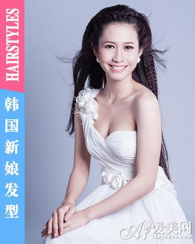 新款韩国新娘发型 皇冠发饰更受宠