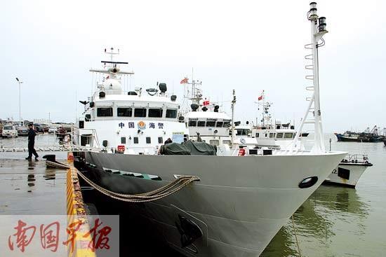 """探秘广西最大海洋维权执法船 """"大块头""""不惧风浪"""