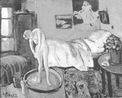 毕加索《蓝色房间》画中有画:藏人物肖像画(图
