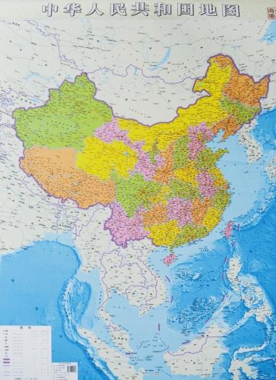 大幅面全开中国竖版地图问世(图)
