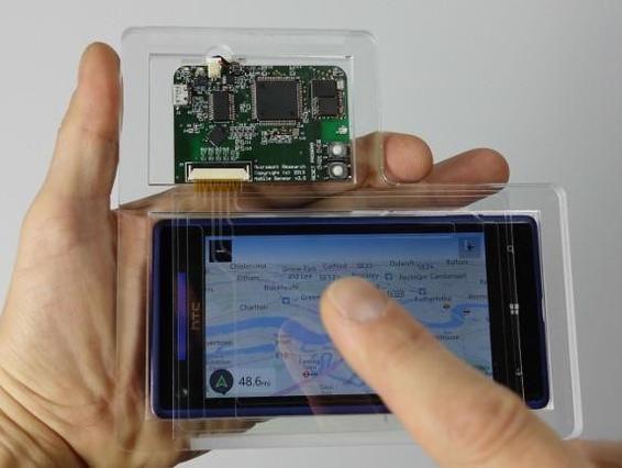 隔空掌握手机 微软研制新式手机传感器