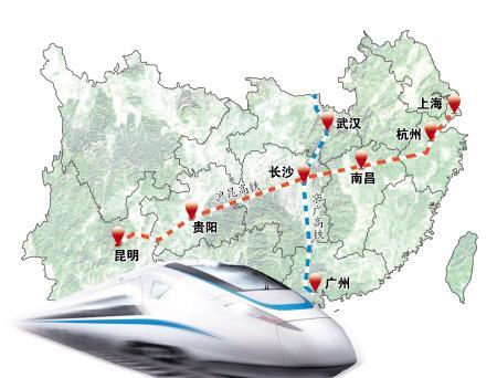常德南站到深圳地图