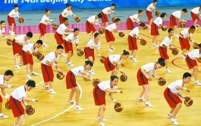 北京市市运会开幕式展示阳光体育
