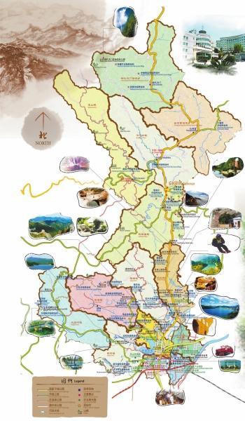 北京怀柔推出手绘旅游地图 中英文对照介绍详尽