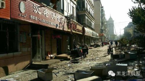 哈尔滨市一小区民宅发生爆炸 2人受伤(组图)