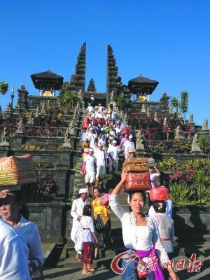 巴厘岛上最古老的印度教寺庙布撒基寺.