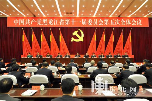 黑龙江省委十一届五次全会召开 递补6名省委委