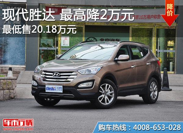 北京:北京现代胜达最高降2万元 现车充足