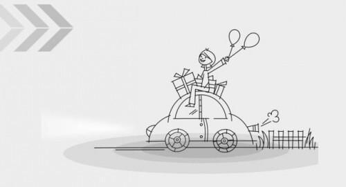 汽车正面立体简笔画