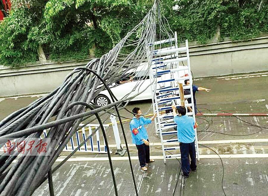 一工人被电缆拖拽堵截左臂续:工人断臂已接上(图)