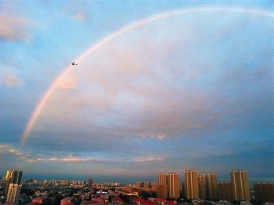 雨后北京现彩虹 刷爆微博(图)