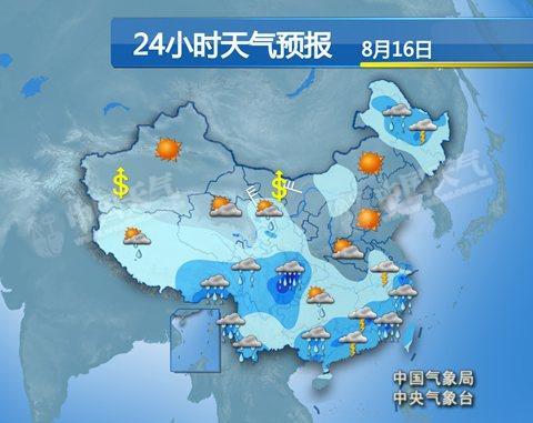 四川重庆迎持续强降雨 东北多阵性降水