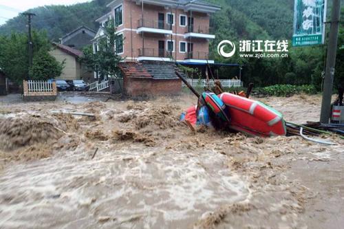 Storm Zhejiang Lin'an in Xi Zhen Bu Xi found the body of a woman