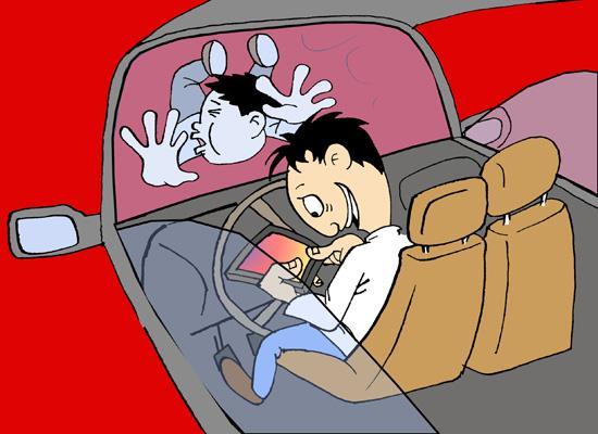 调查:80.8%受访者发现司机开车看手机现象普遍