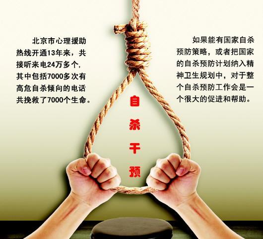 自杀干预权威专家:中国亟待完善国家层面自杀干预体系