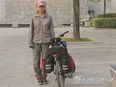 95后女大学生 23天骑行2465公里到大学报到