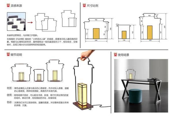 """组图四:""""秦淮剪影""""组合灯具设计图片"""