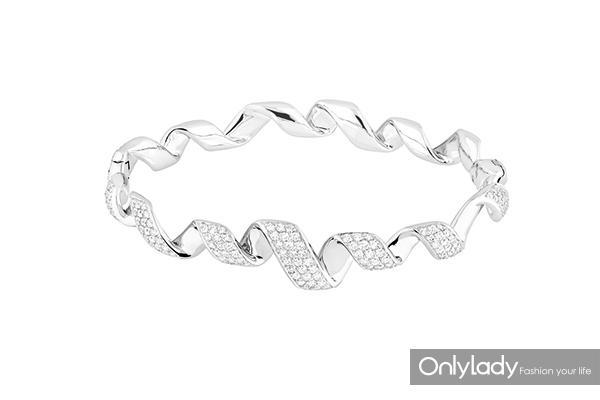 Dior高级珠宝Archi-Dior-Diorama系列白金、钻石手镯