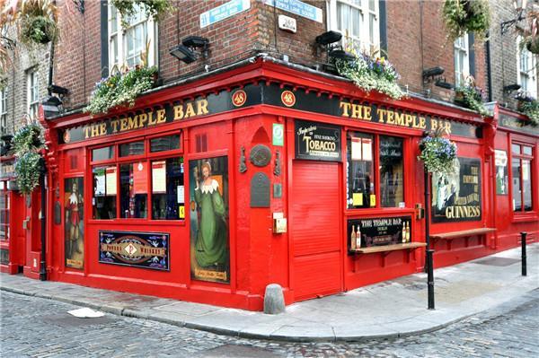 都柏林。。。 圣殿酒吧在都柏林