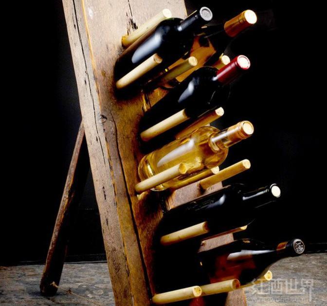 酒架DIY:好看又适用,从速买酒填出来!