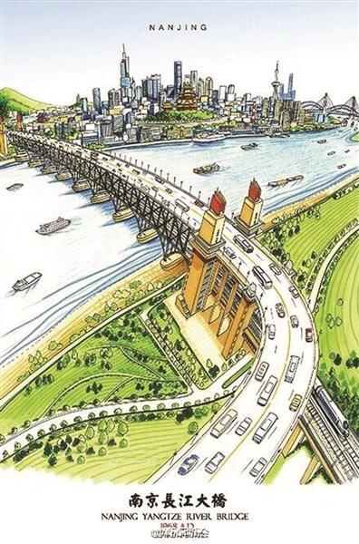 85后小伙手绘南京地标建筑 走红网络(图)