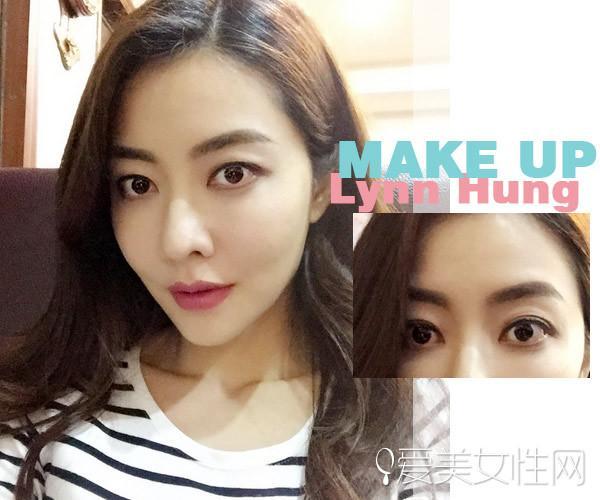 熊黛林的眉毛可不是像韩国妹妹那般自然,可爱.