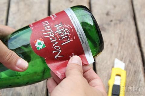 葡萄酒瓶变身精致的风铃,送去新春祝福