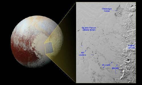NASA证实冥王星上有冰山 横跨距离达几公里(图)
