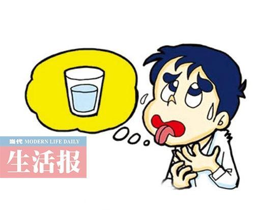 自己喝水卡通图片