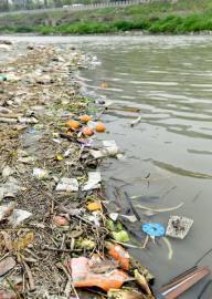 成都河中浅滩变垃圾场 水务局:已安排清理(图)
