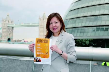 倫敦市長競選唯一華裔候選人杜淑真。
