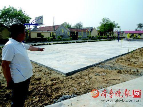 平度程家庄村原先的臭水沟被改建成小广场。
