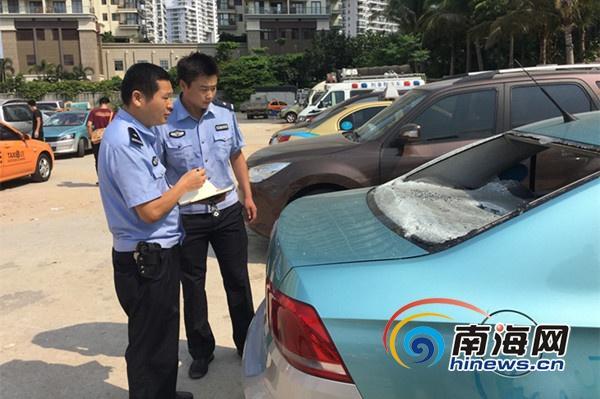 三亚侦破出租车凌晨被砸案 两名涉案人员泄愤砸车落网