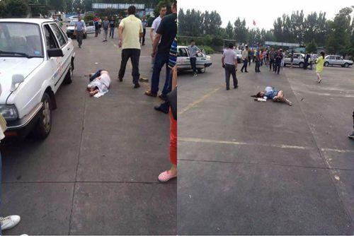 驾校学员紧张致失误 驾车撞伤两学员一教练(图)