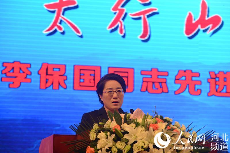 河北农业大学教师、李保国助手齐国辉以《把论文写在太行山上》为题作报告。陈汝健 摄