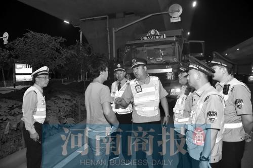 郑州法律车巡逻遭套牌车跟随 连人带车带回考察