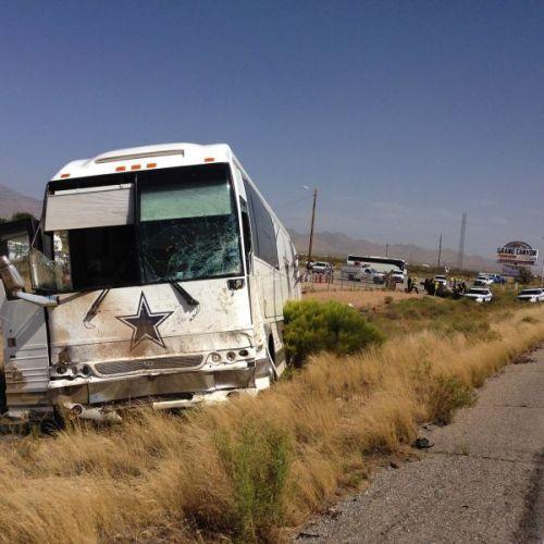 亚洲公路巡逻部门在社交网站上发布的事故现场照片。图片显示达拉斯牛仔队(Dallas