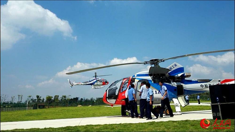 AC311型直升机。张家军摄