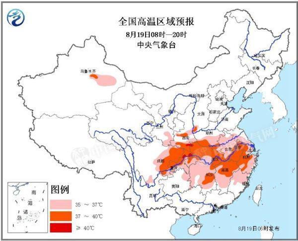 长江中下游高温延续 8月下旬起略有减缓