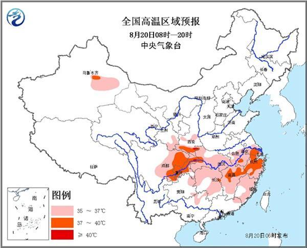 长江中下游高温消减 浙江等或有40℃