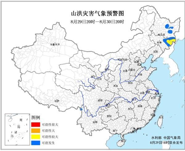 预警:黑龙江吉林云南有些地区能够发生山水灾祸